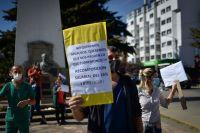 Trabajadores de la salud realizaron una jornada de lucha