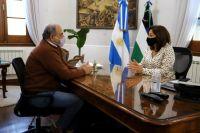 El rector de la Unrn fue recibido por la gobernadora Carreras