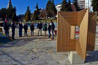 Artista local donó una escultura para el Skatepark