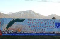 El primer mural de lengua de señas-braille de la Argentina está en Bariloche