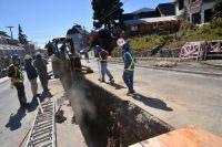Corte de calles por obras del colector costanero