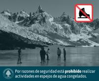 Reiteran la prohibición de hacer actividades sobre agua congelada