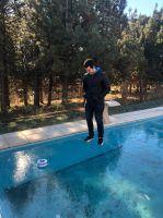En las redes: Por las bajas temperaturas, se congeló una pileta en Bariloche