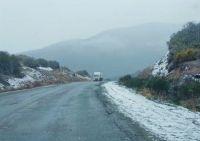 Por heladas y nieve, se debe transitar con precaución