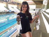 Roxana Pescader y su brillante nivel sueñan con nadar en Brasil